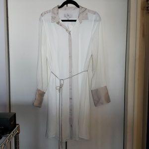 NWT - J. Crew shirt dress with waist tie